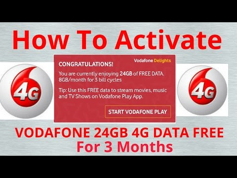 HOW TO ACTIVATE Vodafone 24 GB 4G free DATA