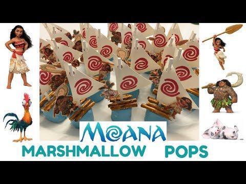 How to Make Moana Marshmallow Pops