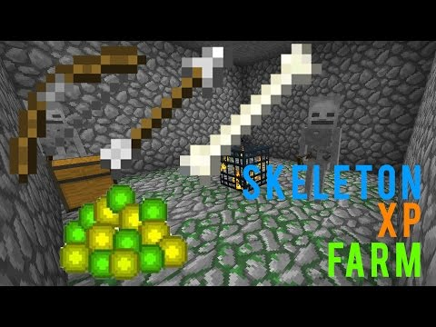Minecraft Skeleton Spawner Best XP farm easy tutorial 2D and 3D
