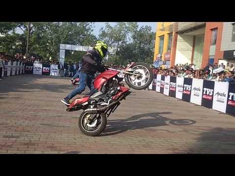 Bike Stunt on TVS Apache 200