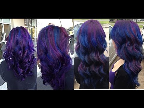 HOW TO DYE HAIR BLUE & PURPLE UNICORN OMBRE HAIR
