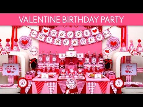 Valentine Birthday Party Ideas // Valentine - B131