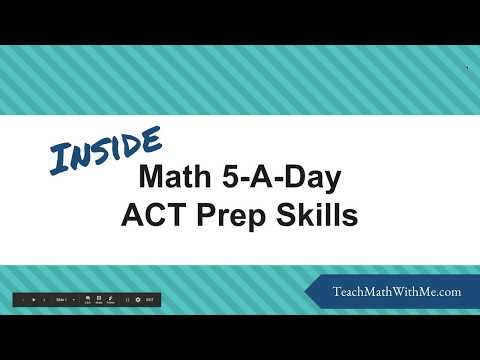 How to Review Basic Math Skills in Preparation for the ACT