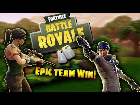FORTNITE BATTLE ROYALE // BEST TEAM GAME EVER! Epic Win!!