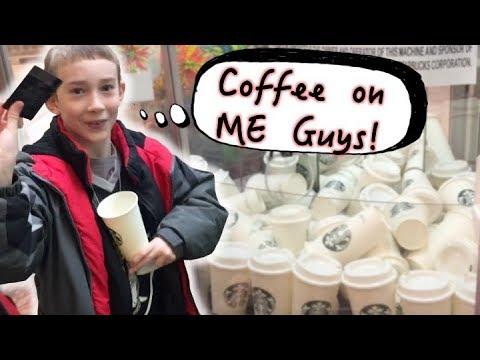 Winning a Starbucks Gift Card from the Claw Machine ~ Free Coffee!