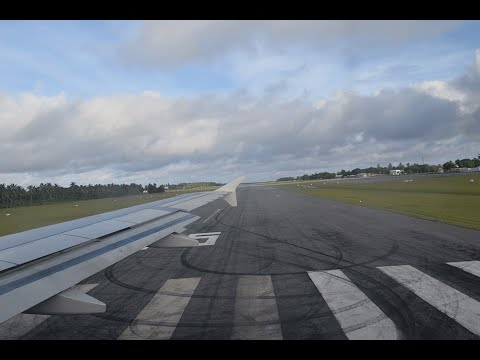 Take off from Cocos (Keeling) Islands