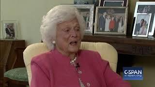"""Barbara Bush: """"I have no fear of death"""" (C-SPAN)"""