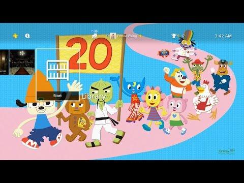 PaRappa The Rapper 20th Anniversary Theme PS4