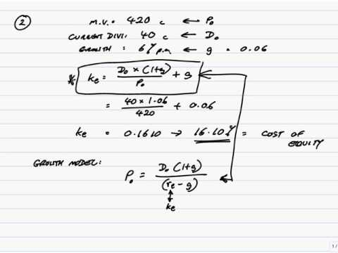 ACCA P4 The Cost of Capital (part 1 - Cost of Equity)