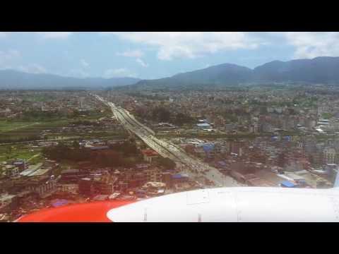 Landing at Tribhuwan International Airport via Malindo Air