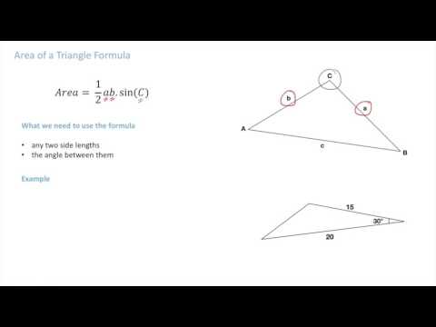 IB Math Studies - Area of a Triangle Formula