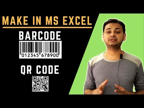 Advance Excel: Make BarCode in Excel, What is QR Code & Bar Code How to Make it Easy by TechGuruPlus