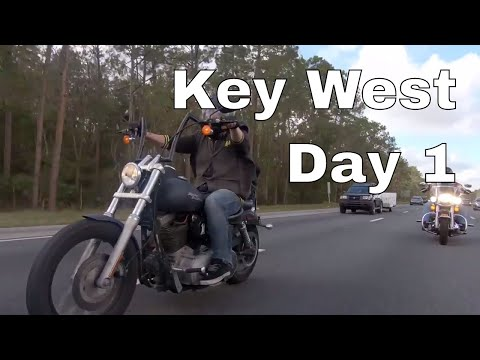Key West Motorcycle Trip: Day 1 - Half way in Cocoa Beach. FL