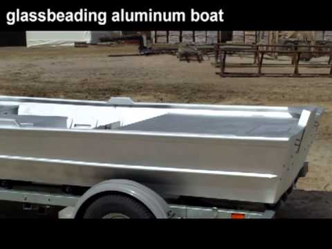 aluminum boat glass beaded