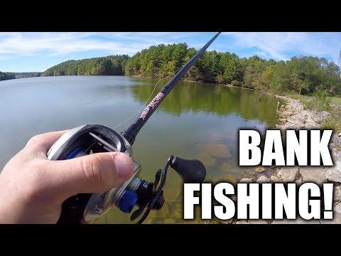 Rural Retreat Lake Bass Fishing in the Fall