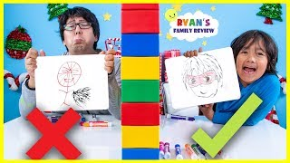 Download Twin Telepathy Drawing Guess What Ryan is Thinking Challenge!!! Video