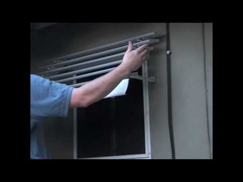 Aluminum Window Awning Installation Part 6 - Step 5