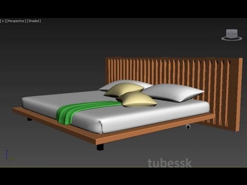 3ds max - Modern Bed Tutorial