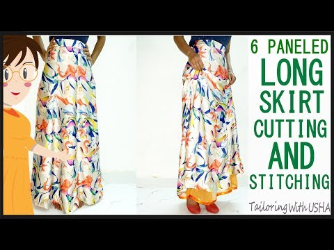 6 Panel Long Skirt | Trendy Skirt | Long Skirt Cutting And Stitching - Tailoring With Usha