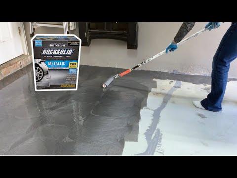 Install Rust-Oleum RockSolid Coating
