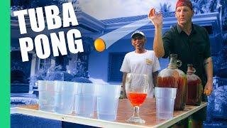 Teaching Filipinos Beer Pong with Bahalina (Tuba) in Argao, Cebu