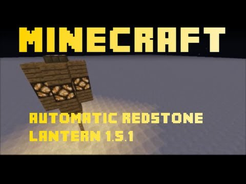 How to make an automatic Redstone Night Lamp in Minecraft