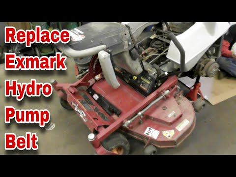 How To Change The Hydro Pump Belt On An Exmark Lazer-Z Zero Turn Mower - with Taryl