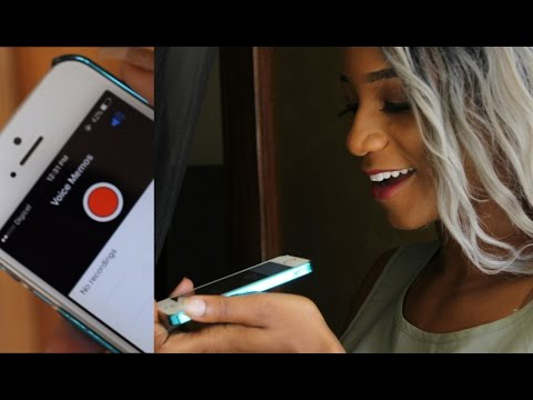 How to do Voice Overs with an Iphone for Youtube Videos    Annesha Adams
