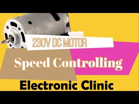 230v Dc motor Speed controlling using Mosfet and Arduino uno | PWM motor speed controlling