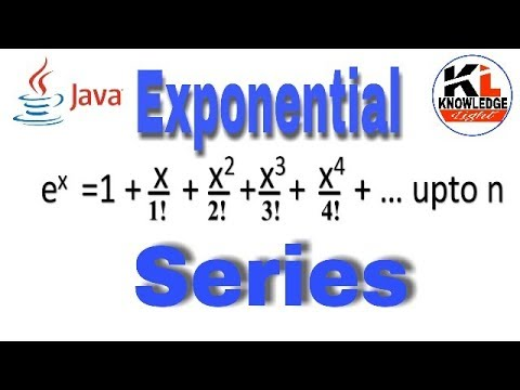Exponential series in java | Knowledge Light