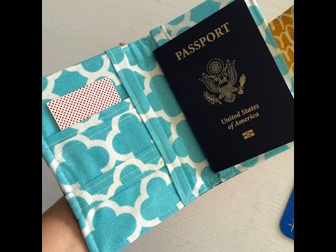 How to sew a Passport Wallet / Cover / Case