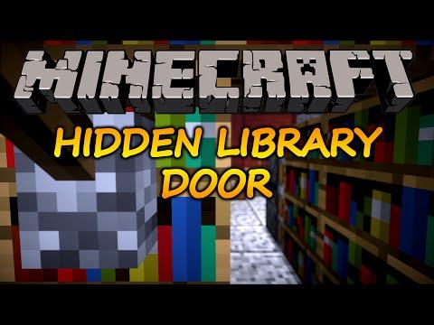 Minecraft:  How to make a hidden bookshelf door (1.11.2)