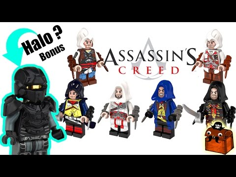 Halo Custom LEGO Minifigure and Assassin's Creed LEGO Minifigures 2017