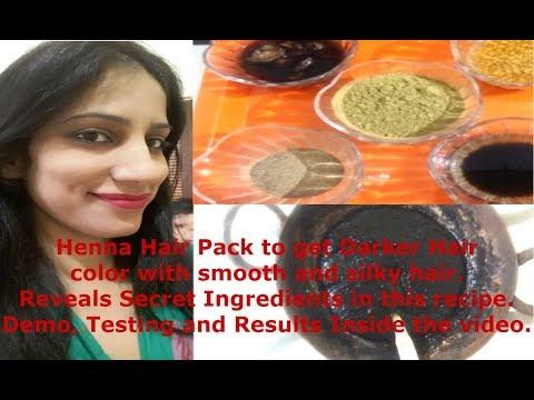 Henna Hair Dye to Get Darker Hair Color In 2 Hour Turn White Hair in Black 100% Natural Secret Henna