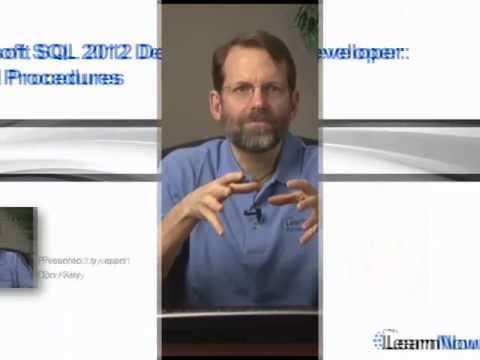 SQL 2012 Developer: Stored Procedures trailer