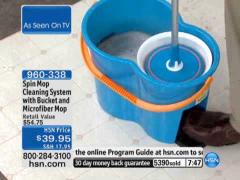 Spin Mop Cleaning System with Bucket and Microfiber Mop