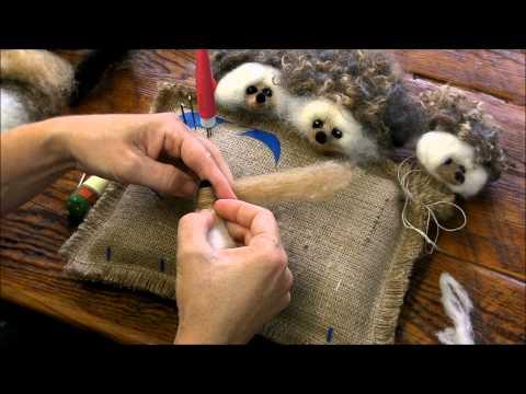 Needle Felting A Hedgehog by Sarafina Fiber Art