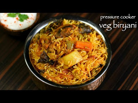 veg biryani in cooker | how to make vegetable biryani recipe in cooker
