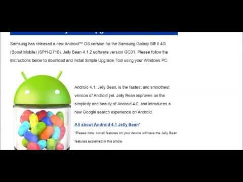 How to Update / Install Android Jelly Bean 4.1  on the Galaxy S2 (Boost) Using PC