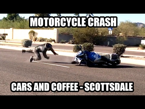 Motorcycle Crash at Cars and Coffee Scottsdale