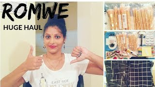 Affordable Romwe Haul & Review Part 1 || Romwe try on haul || In telugu