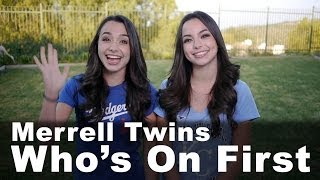 Download Who's on First - Merrell Twins Video