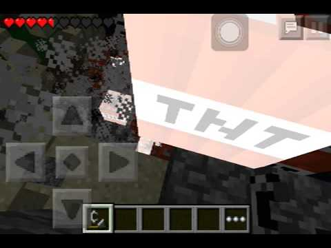 blowing 256 TNT's in Minecraft Pocket Edition! 0.7.1