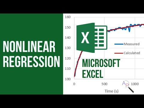 Fit Nonlinear Model to Data with Excel