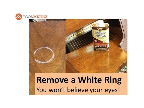 How To Remove a White Ring Water or Heat Stain