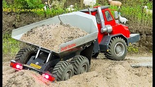 STUNNING RC TRACTOR, TRUCK, EXCAVATOR, SEMITRUCK AND MORE ON THE CONSTRUCTION SITE!