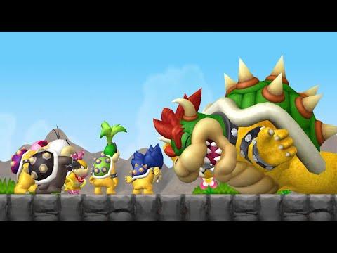 New Super Mario Bros. Wii 100% Walkthrough Finale - 8-Castle Final Boss (Bowser) / Ending & Credits