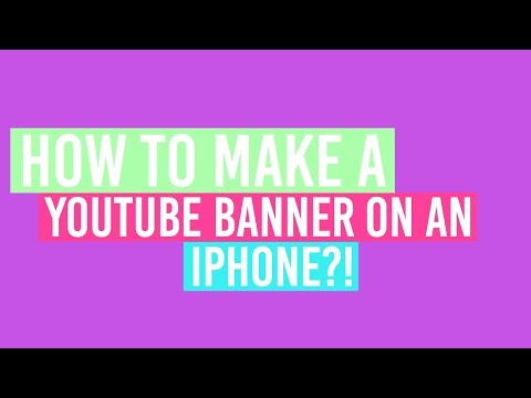 How to make a YouTube Banner on IPhone, iPod, iPad!|RoyalAna101