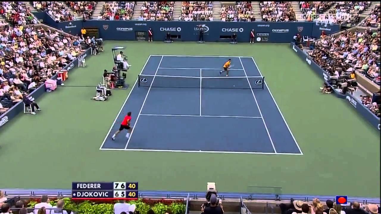 Federer vs Djokovic - US Open SF 2009 Highlights [HD]