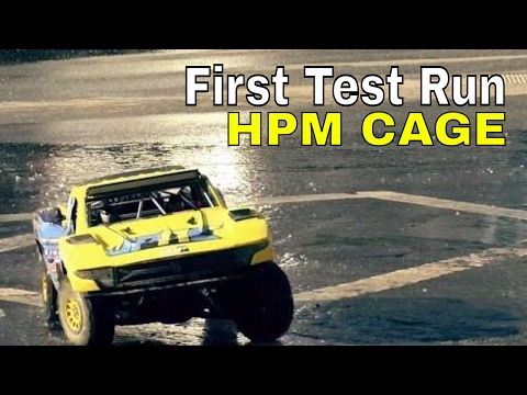 Dancing With The Score - HPM Cage On Axial Yeti Score Trophy Truck First Test Run On Asphalt